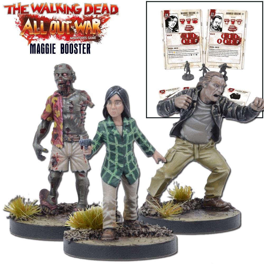 THE WALKING DEAD MORGAN GAME BOOSTER MANTIC GAMES ALL OUT WAR
