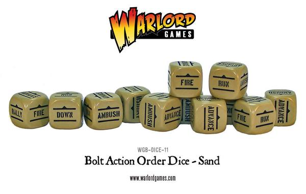 Bolt Action WGB-DICE-18 Orders Dice – Grey with Red 12 Warlord Games